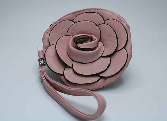 Pink Rose Design Handbag