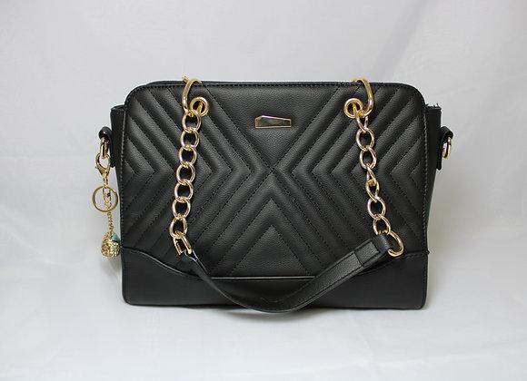 Black Leather Bag w/Mini Bag