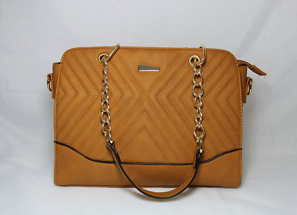 Caramel Leather Bag w/ Mini Bag