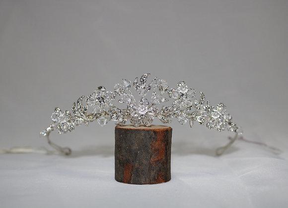Swarovski Crystal Tiara with Flower Design
