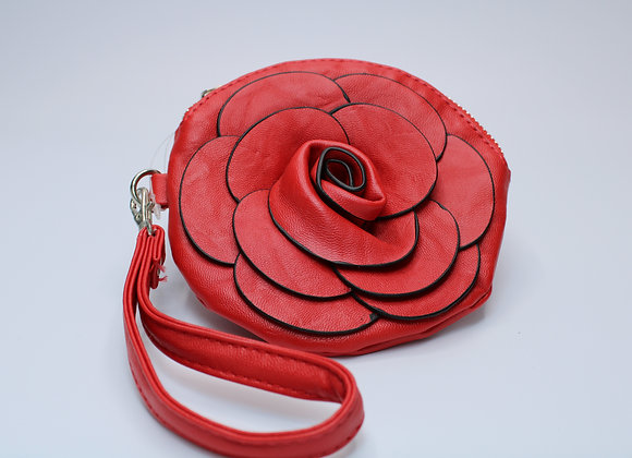 Red Rose Design Handbag