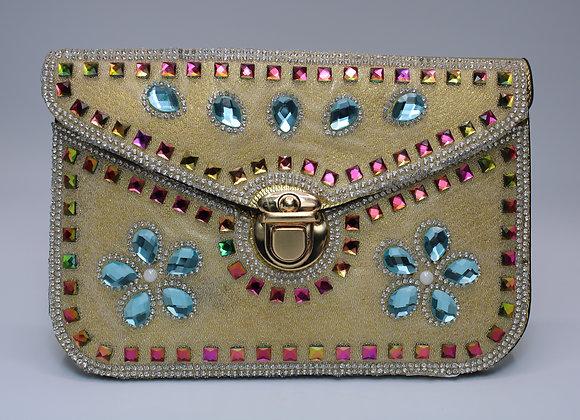Gold Bedazzled Handbag