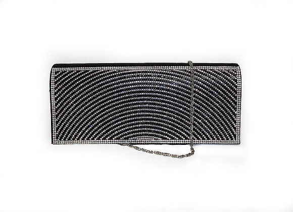 Black and Silver Sequin Crossbody Bag/Clutch