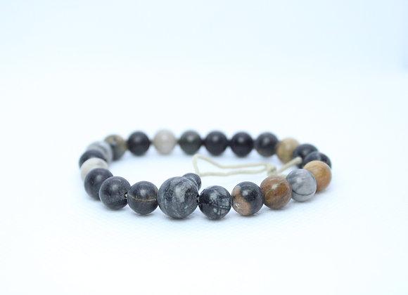 Ebony/Brown Tiger/HowLite  Bracelet