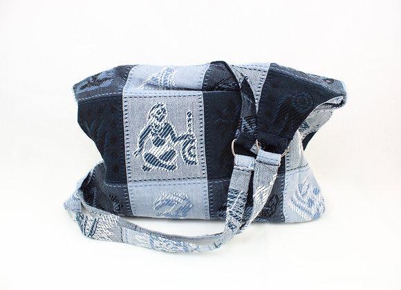 Cultural Indigo Shoulder Bag