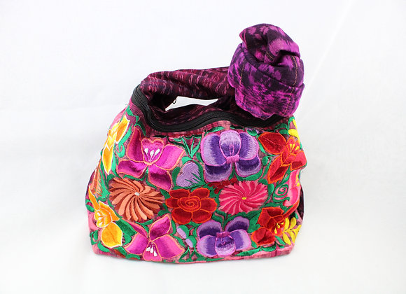Cross Body Multicolor Flowers Ethnic Bag