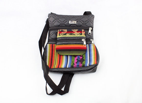 Aztec Mini Stripe Bag (White/Blue/Green/Pink)