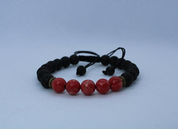 Pink Lava Rock Bracelet