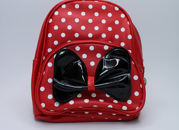 X-Small Red Polka-Dot w/ Black Bow