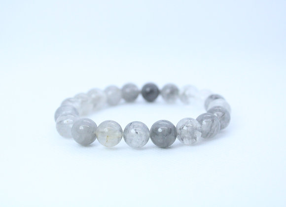 Grey-Tone Clear Bracelet