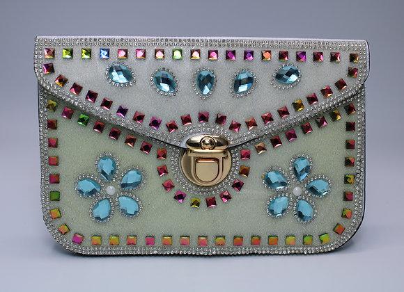 White Bedazzled Handbag