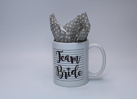 Team Bride Faded Black Mug