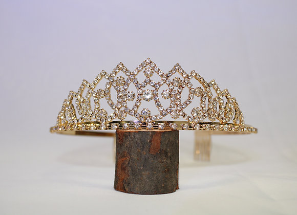 Gold Rhinestone Tiara