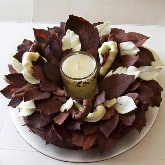 Chocolate Cake Xmas Wreath