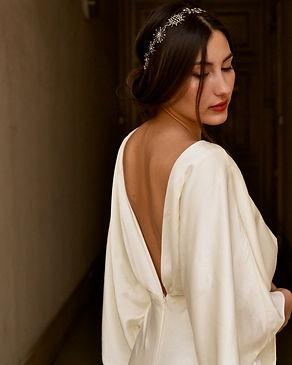 Headband céleste étoiles sur mariée cheveux bruns