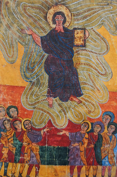 Christ appearing to crowd in The Morgan Beatus