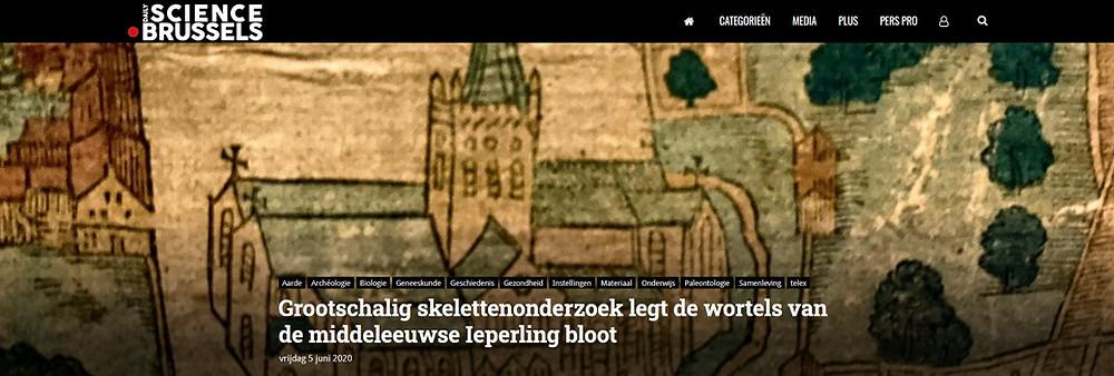 Daily  Science Brussels - Grootschalig skelettenonderzoek legt de wortels van de middeleeuwse Ieperling bloot