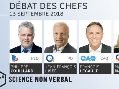 Analyse des expressions faciales lors du débat des chefs du 13 septembre 2018