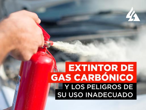 Extintor de Gas Carbónico y peligros de su uso inadecuado