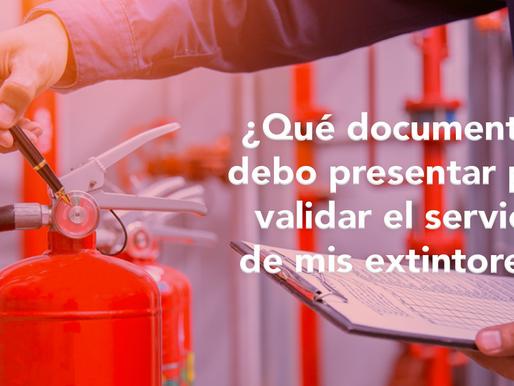 ¿Qué documentos presentar para validar mis extintores ante la autoridad competente?
