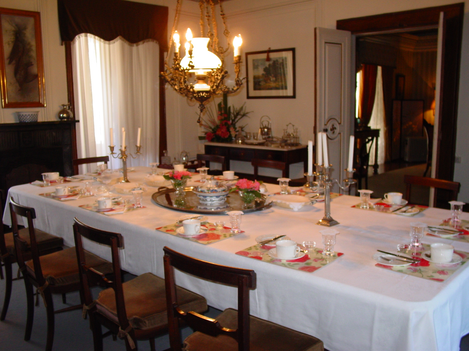 The dinning (and breakfast) table
