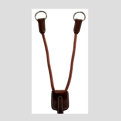 SILVER CROWN Leather & Cord Martingale Attachment