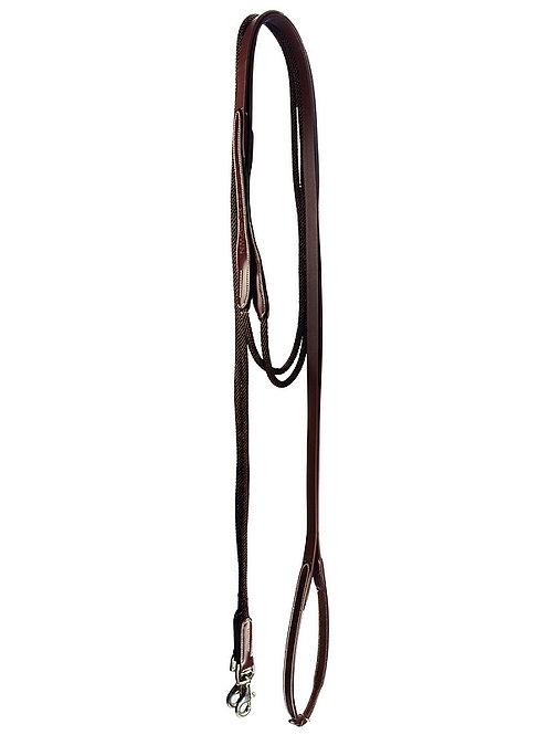 Silver Crown Schlaufzügel Leder und Seil