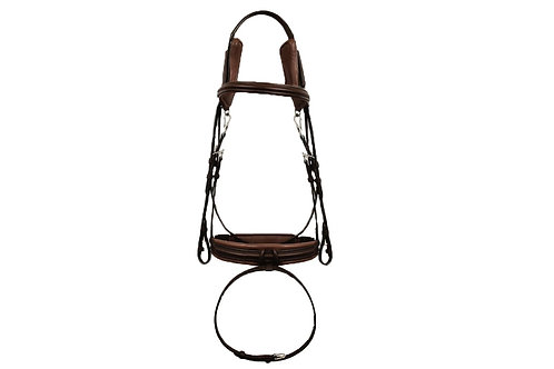 SILVER CROWN bridle with comfort headpiece 001 Poll Free Comf