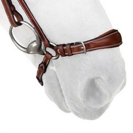 SILVER CROWN noseband Allemande Hanoverian noseband