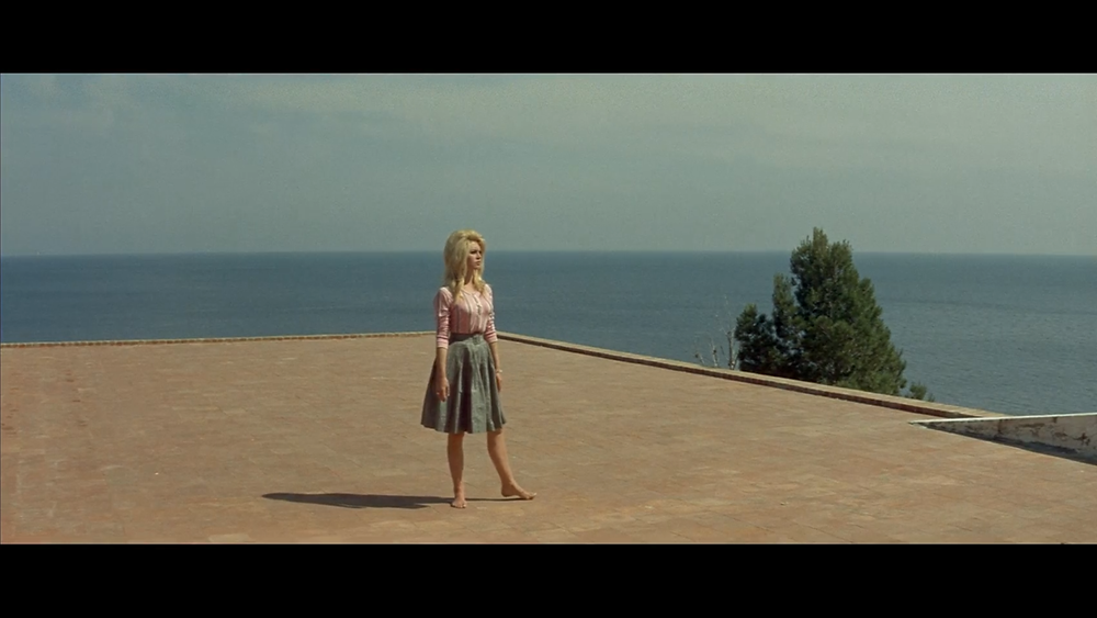 My favorite frame from Contempt (1963) At least Godard films look incredible