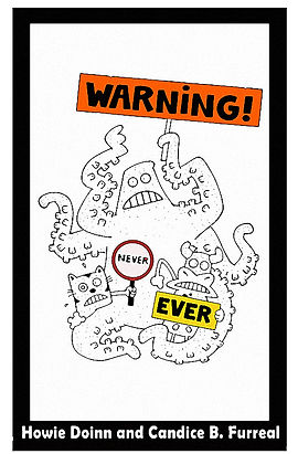 warning never ever cover for book connec