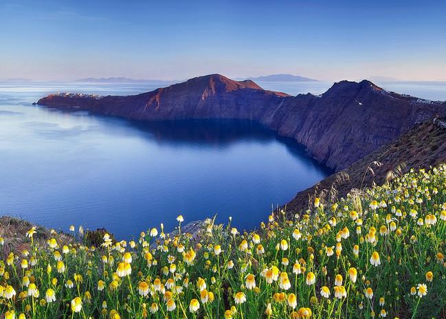 wildflowers mountain lake santorini.jpg