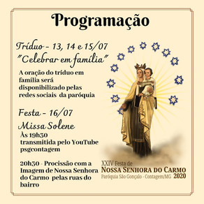 Tríduo e Festa de Nossa Senhora do Carmo