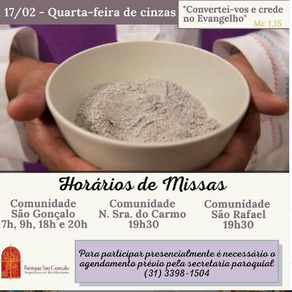 Missa 4a. Feira de Cinzas