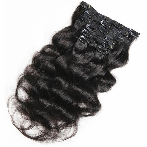 Natural Body Wave Clip Ins 100 grams