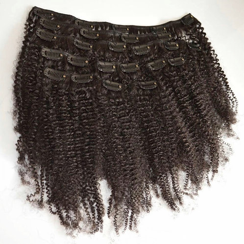 Kinky Curly Clip Ins 100 grams