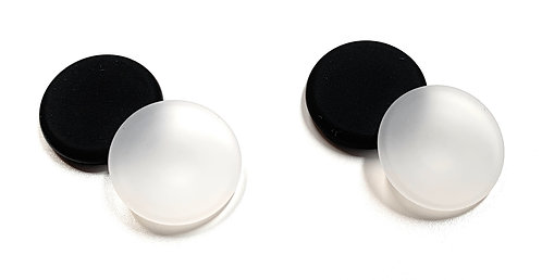 Button Covers - Prevent Shirt Holes (4-Pack Black & Clear)