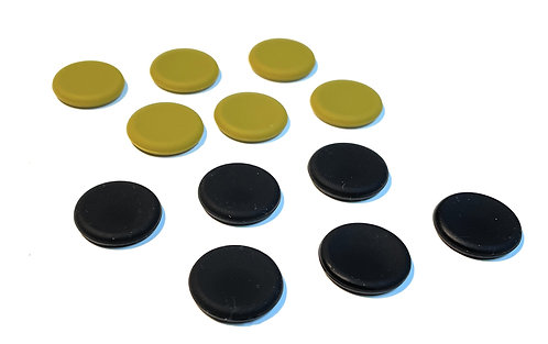 Button Covers (12 pack Olive/Black)