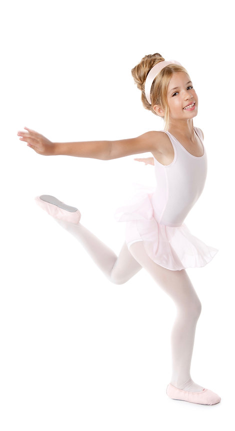 Ballerina girl dancer dancing isolated o
