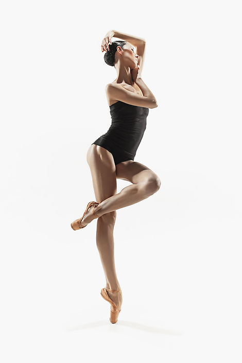Modern ballet dancer exercising isolated