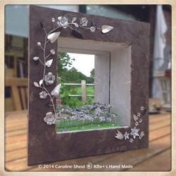 Miroir boîte: Le jardin blanc