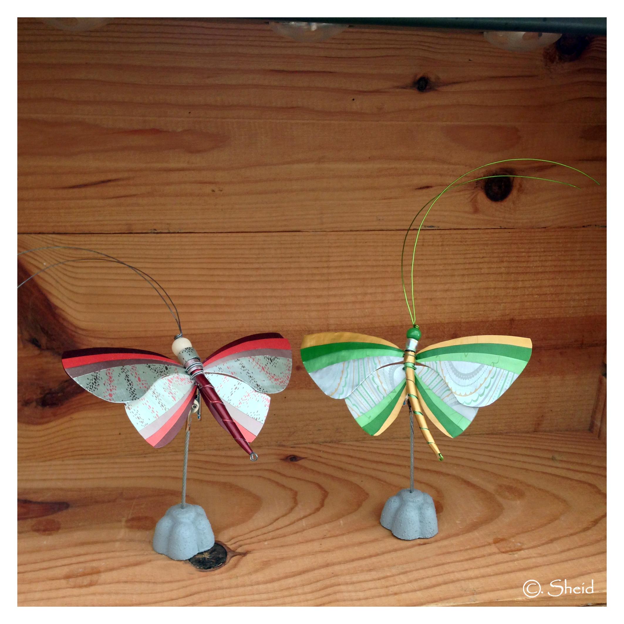 Papillons rouge & vert