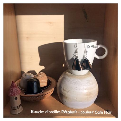 BO Pétales Marbré Café Noir