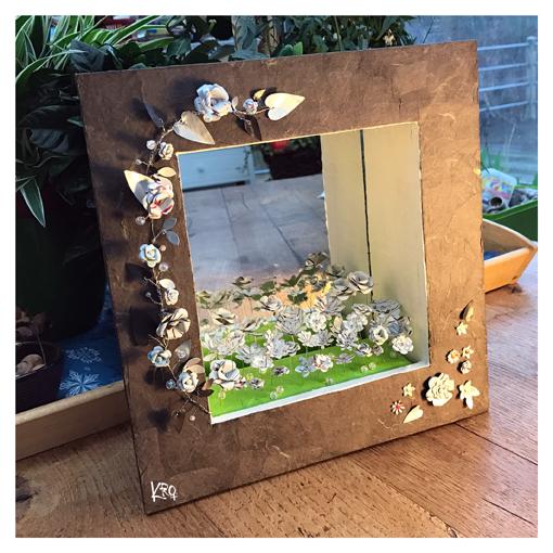"Miroir-boîte ""jardin blanc"""