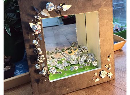 "Miroir boîte ""Jardin blanc"""