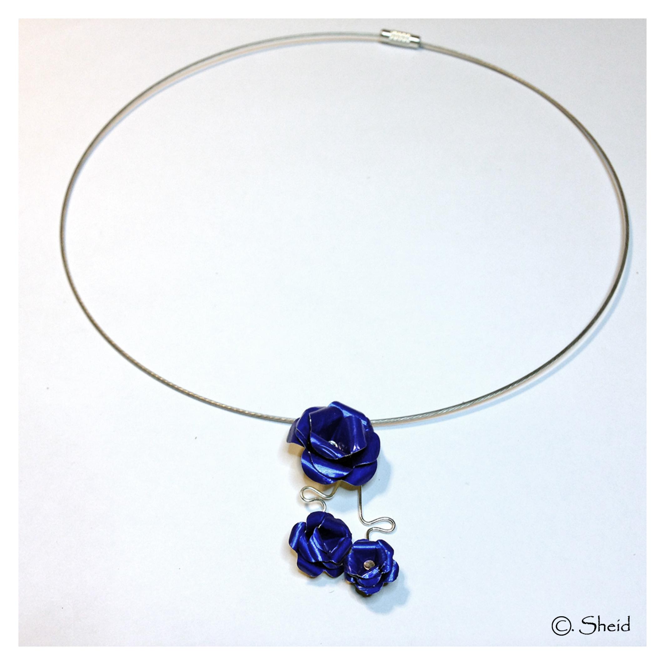 Collier Trio Bleu Roi
