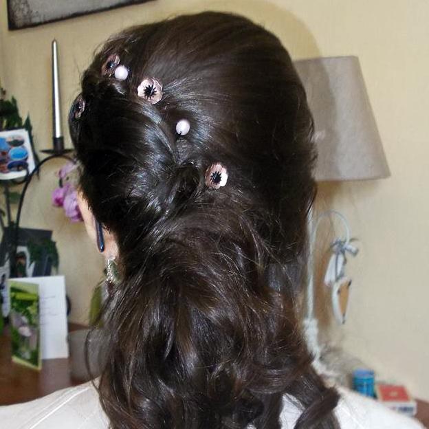 bijou de cheveux porté