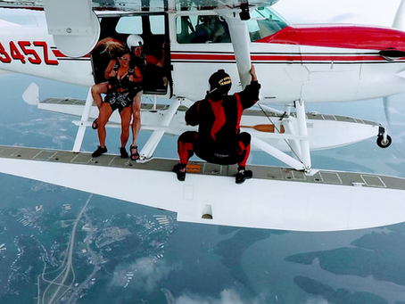We also Skydive from our Seaplane!