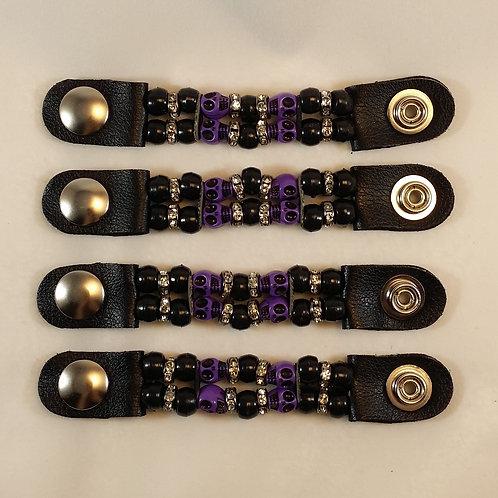 vest extender, motorcycle accessories, snap extender, motorcycle gifts,leather vest, beaded vest extender, women vest, skull