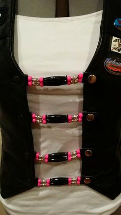 Pink Pony Blk Bone Vest